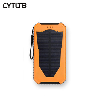 S10 4000mah/8000mah outdoor led solar power bank 8000mah powerbank rechargable