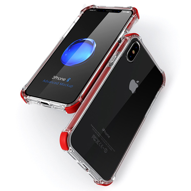 Anti Shock Transparent Cell Phone Case for Iphone X