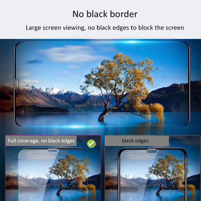 2019 Hot Sell Tendency No Black Border Full Caver Tempered Glass Screen Protector For iphone series