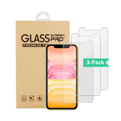 3 pack 0.33mm 9H 2.5D glass For iPhone11 pro max screen protector tempered glass 3 pack