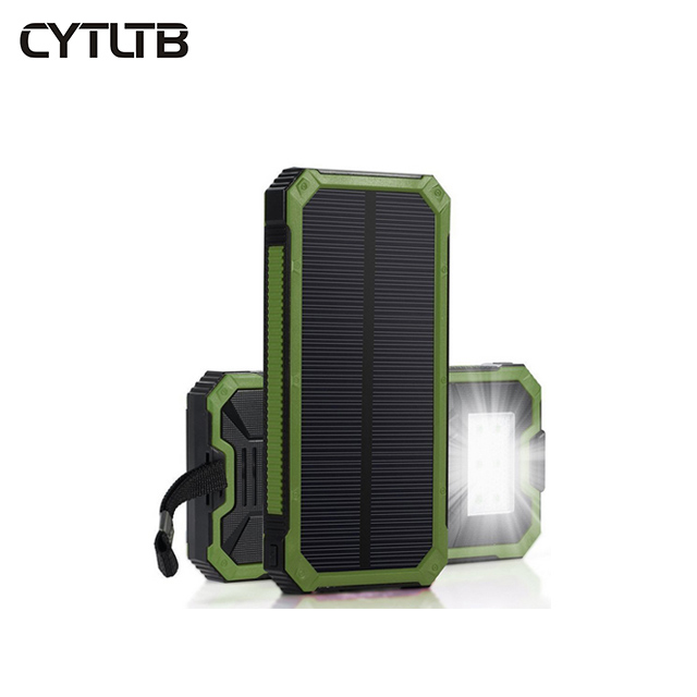 S12 8000mah 2019 charger led solar power bank waterproof 10000mah powerbank with solar cell